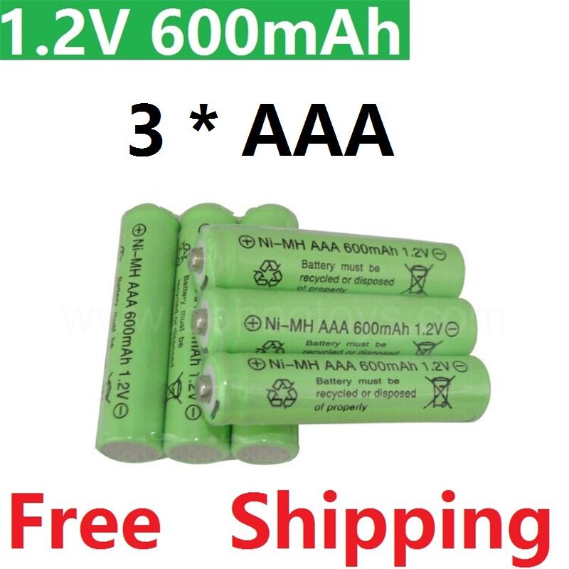 3psc/lot Rechargeable Batteries( AAA battery) 1.2 v 600mAh Lithium Li-ion Battery Flashlight laser Ni-MH 1.2V 600MaH aaa battery(China (Mainland))