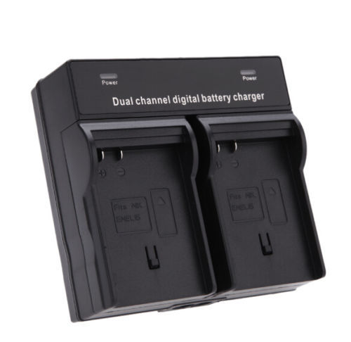 EN-EL15 EN EL15 QUICK Dual Channel Battery Charger For Nikon ENEL15 Battery D7000 D7100 D600 D800 free shipping(China (Mainland))