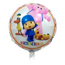 1 Pcs 18 polegada Unicórnio & Flamingo Super Asas Feliz Aniversário balões holiday party decoração Pocoyo balão brinquedos para crianças(China)