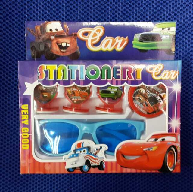 12 sets Wholesale red The car Seal and glasses set toys children Christmas presents 3 design(China (Mainland))