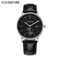 Wristwatch for Men Quartz watch Clock Male Black Leather Watch Men Watches Luxury Famous Brand Quartz