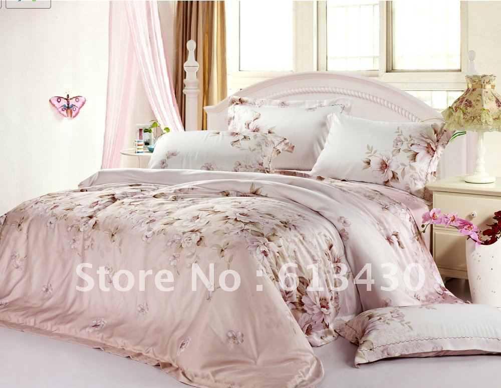 Europe luxury tencel fabric bedding sets queen king size for Bedding fabric bedding