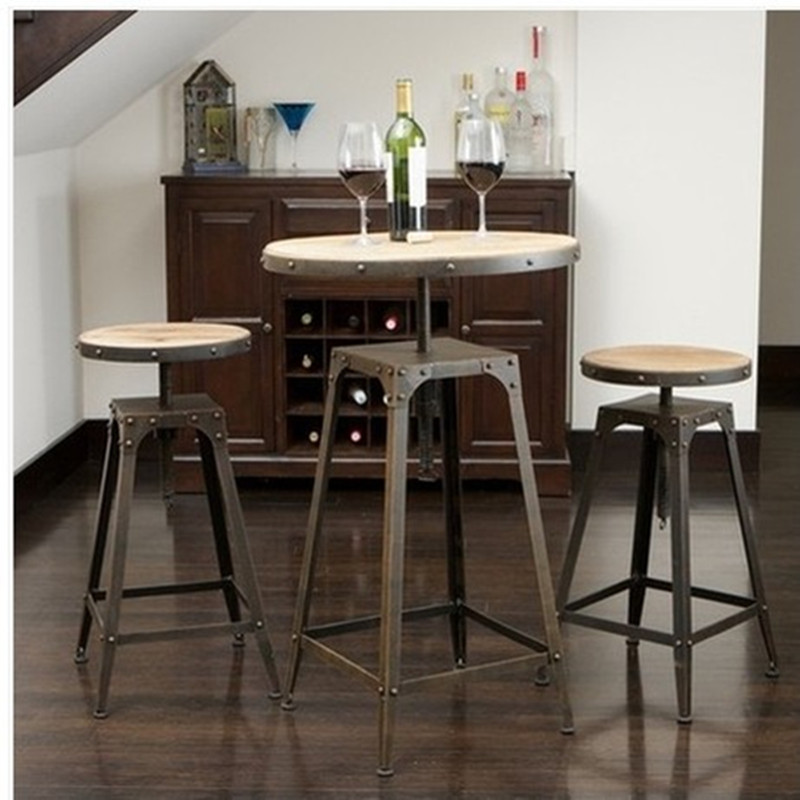 American French antique to do the old wrought iron bar stools tall chairs and coffee tables leisure furniture<br><br>Aliexpress