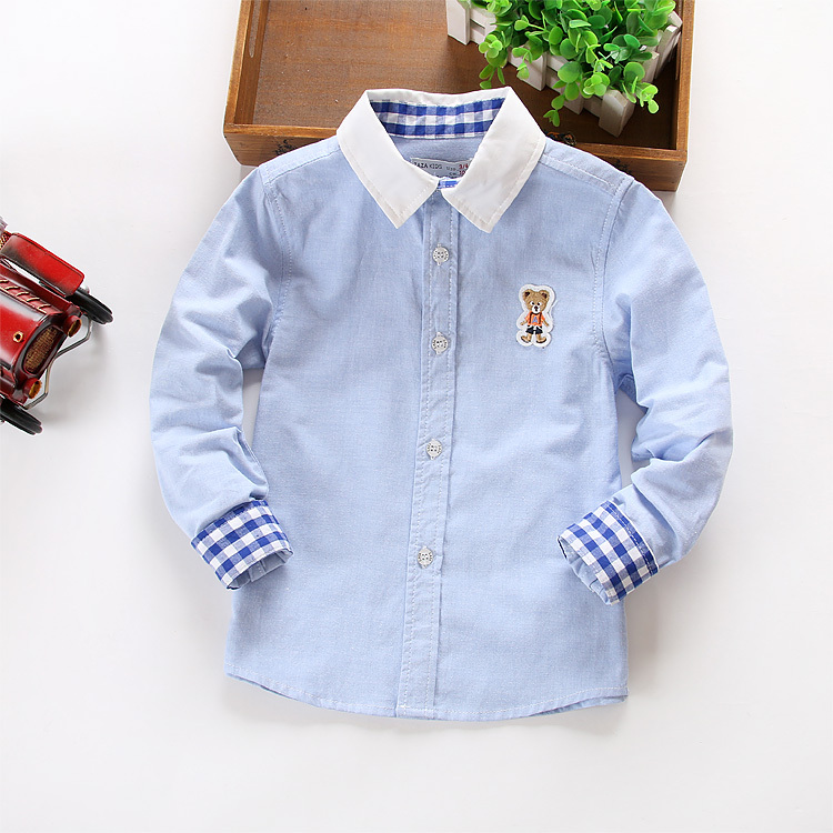 New arrival 2015 Spring Children boys shirts, Brand fashion kids Boys Cotton Shirts,Fit for 3-10 years(China (Mainland))