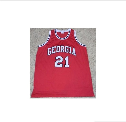 # 21 DOMINIQUE WILKINS GEORGIA BULLDOGS BASKETBALL college jersey name and number stitched, Custom all sizes(China (Mainland))