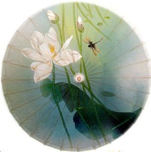 Dia 50cm Free shipping white lotus in breeze painting oiled paper umbrella waterproof and anti-UV Luzhou handmade small umbrella(China (Mainland))