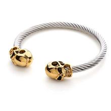 Серебряный браслет с черепами