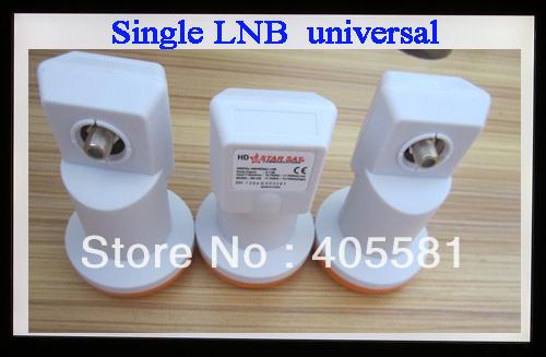 Free shipping single lnb, universal LNB for satellite receiver, 0.1db lowest Noise Figure LNB, ku band lnb,HD
