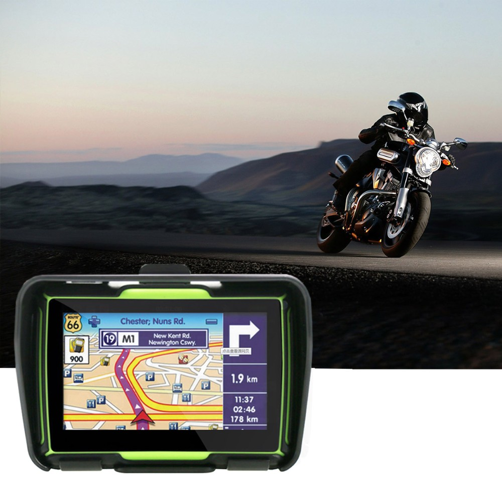 Motorcycle Car GPS Waterproof IPX7 4.3 Inch Motorcycle GPS With 480X272 With 8GB Internal Memory Bluetooth Maps