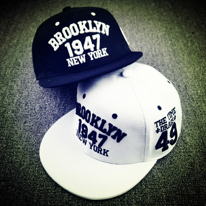 2015 New Black White Casual Gorras Snapbacks Skateboard Hats 1947 York Letters Hip Hop Cap Baseball Caps Men Women - KF Store store