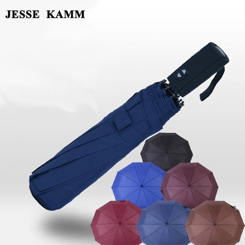 JESSE KAMM Large Big For Women Men Umbrella Oversized folding double three fold umbrella male dual fully-automatic schoolgirl(China (Mainland))