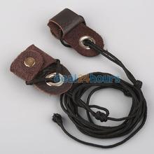 New Archery Recurve Bow String Longbow Stringer Black Leather Tip Nylon Cord 2M