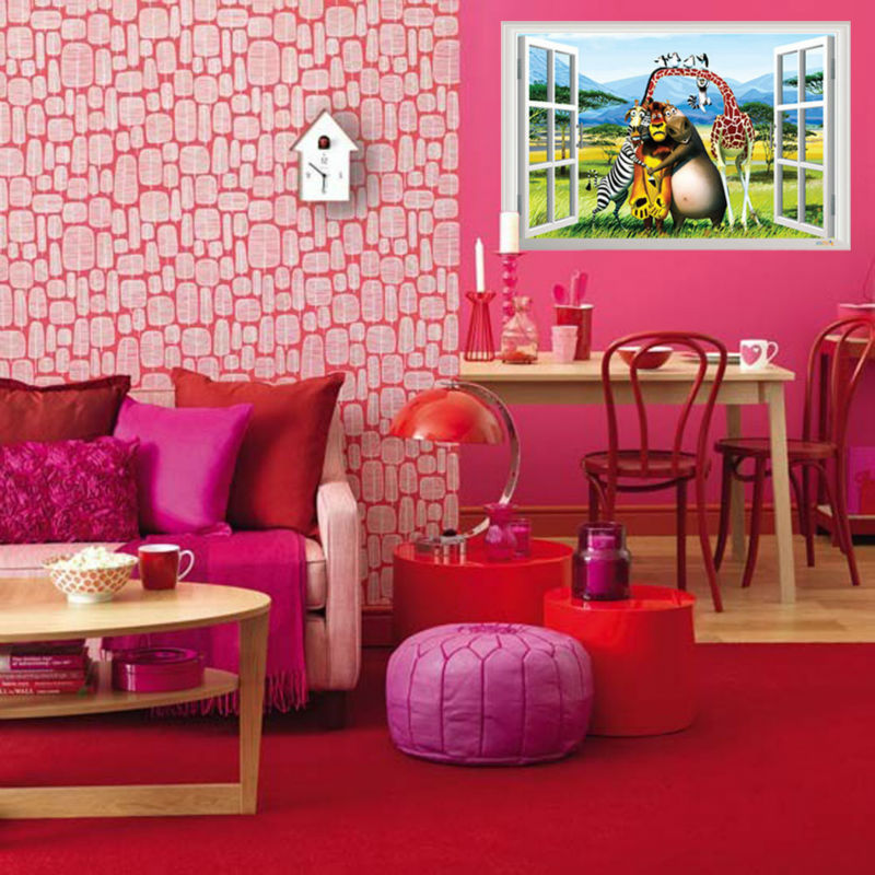 Cartoon Wall Stickers Home Decals For Kids Room Home Decoration