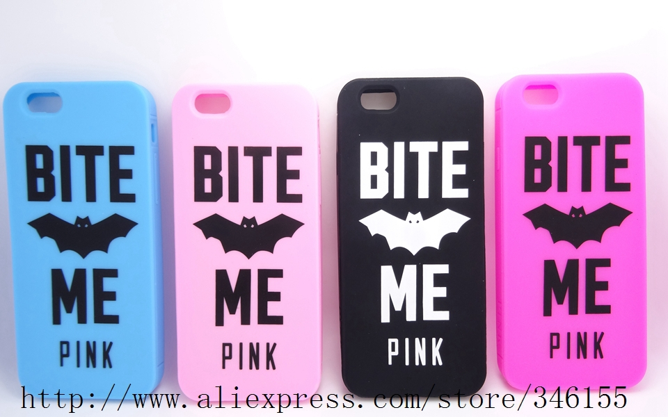 2015 Newest Victoria/'s Secret PINK Cartoon Animal Bat Soft Rubber Case Apple iPhone 6 4.7inch Silicone Phone Covers - Shen zhen HW (3C store Digital Accessories Company)