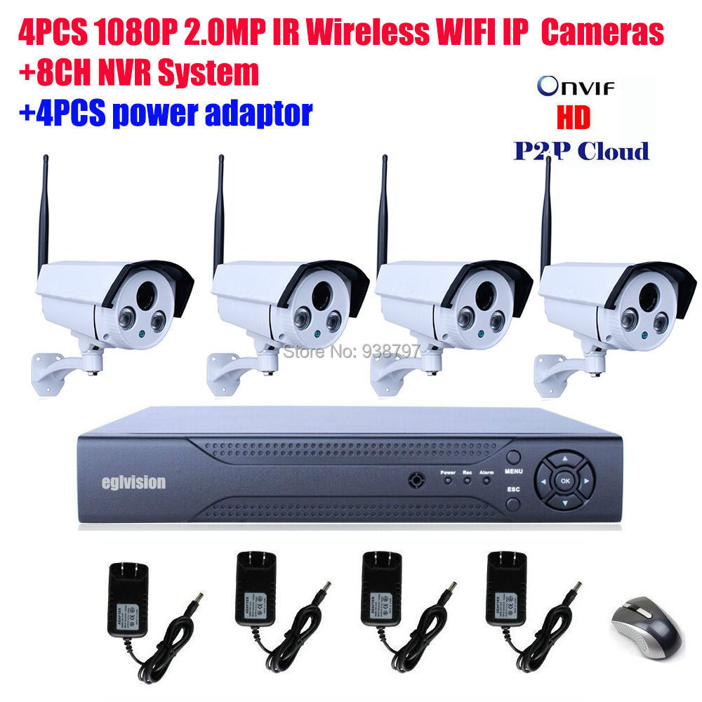 1080P 2.0MP Wireless WIFI IP Security Cameras & 8CH NVR Systems HD - Eagle Video Technology store
