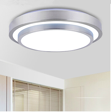2015 Crazy!Double Aluminum Line Led Ceiling Light AC85~265V Indoor Bedroom Kitchen Lamps,study,Foyer light Free Shipping(China (Mainland))