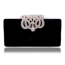 Sekusa вечерние клатчи Корона Стразы вечерние сумки кошелек сумка для свадьбы бриллианты леди кошелек мини Вечерние сумки(China)