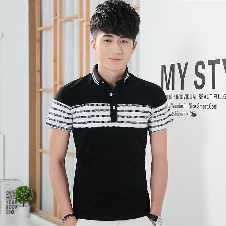 2016 New Men Polo Shirt Men 's Business & Casual solid polo shirt Short Sleeve breathable golf polo shirts Free shipping(China (Mainland))