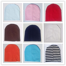 Hot Sale Baby Beanies Knitted Cotton kids cap for boys girls solid color soft hat Spring Autumn Winter thick baby hat  (China (Mainland))