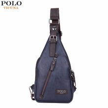 Buy VICUNA POLO Famous Brand Theftproof Magnetic Button Open Leather Mens Chest Bags Fashion Travel Crossbody Bag Man Messenger Bag for $15.35 in AliExpress store