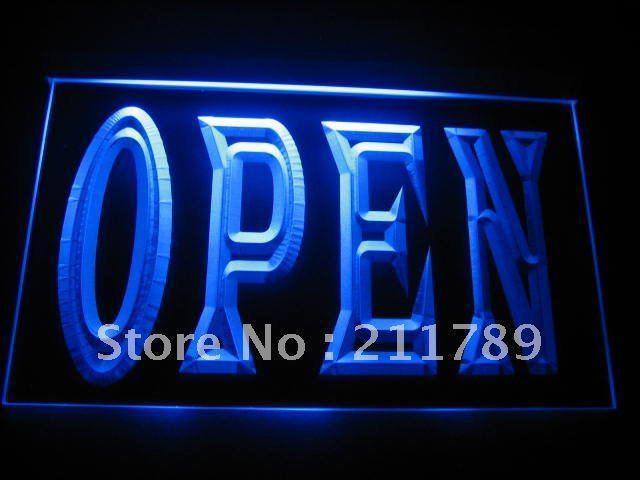 B063-B OPEN NEW Cafe Restaurant Bar NR Neon Light Signs