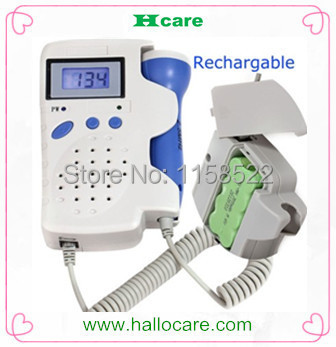 Prenatal Fetal Doppler LCD Screen Backlight Built-in Speaker Home Use Baby Pocket Heart Rate Monitor 2.5Mhz Probe Pregnancy(China (Mainland))