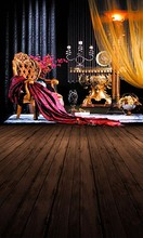 Wedding photography studio background cloth photo paper ancient wooden palace decoration indoor background. 3595