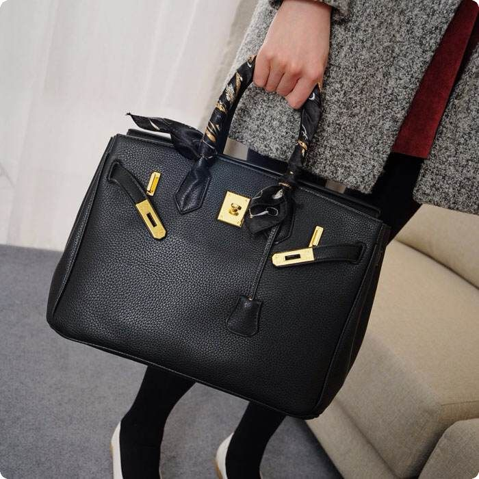 H bag women brand purse famous designer Embossed genuine leather silver gold buckle available 35cm handbag with logo A++(China (Mainland))