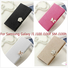 Buy Luxury Wallet Flip PU Leather Cell Phone Case Coque Samsung Galaxy J1 J100 J100F SM-J100h Case Cover Shell Stand for $2.96 in AliExpress store