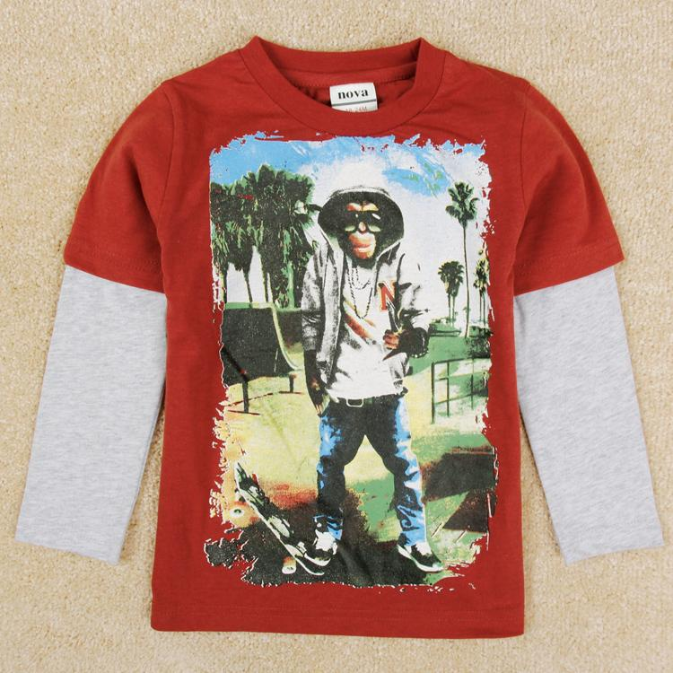 New arrival boy 39 s t shirt printed animal baby t shirt for for Boys printed t shirts