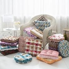 Flowers printing Cotton Fabric Decorative Square/Round Pillow