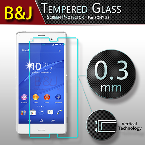 Brand New Original Sony Xperia Z3 Screen Protector Tempered Glass Clear Protective Film Anti-shatter - Guangzhou B&J Trading Co., Ltd. store