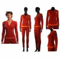 Star Trek Enterprise Commander T'Pol Uniform Outfit Halloween Cosplay Costume Women Girls Christmas Gift