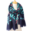 180cm 100cm Big Size Women 2016 New Fashion England Style Star Flower Pattern Tassels Long Scarf