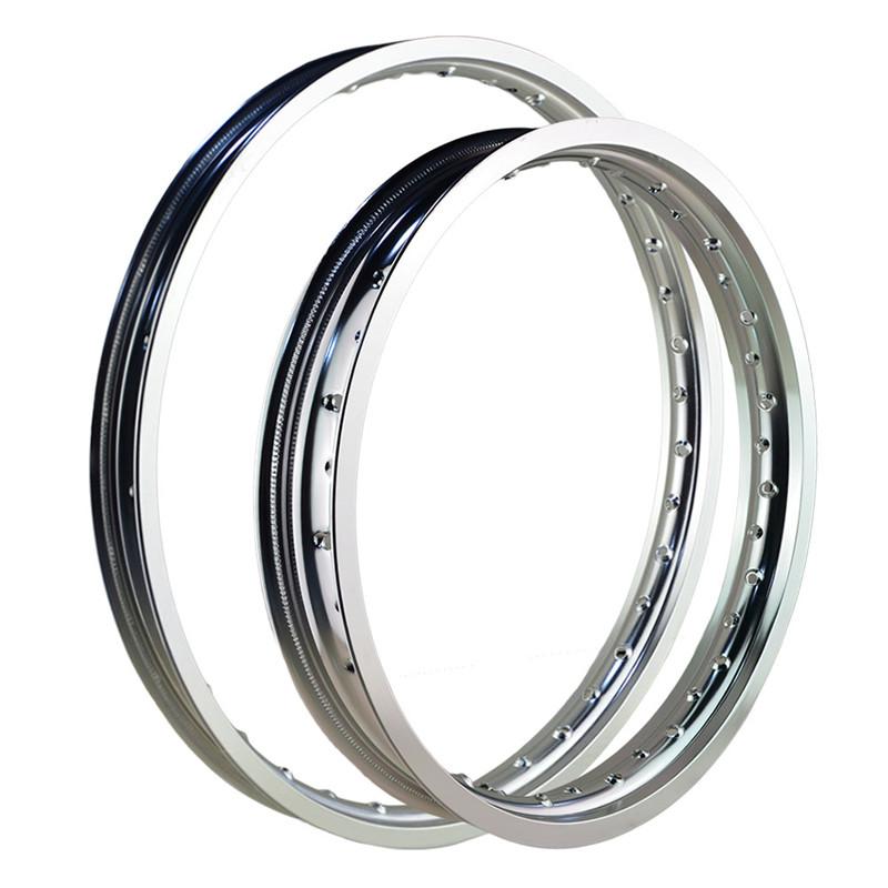7075 F & R Motorcycle Rims rear wheel circle Aviation aluminum 2.15x18 1.60x21 36 Spoke Holes high strength Silver(China (Mainland))