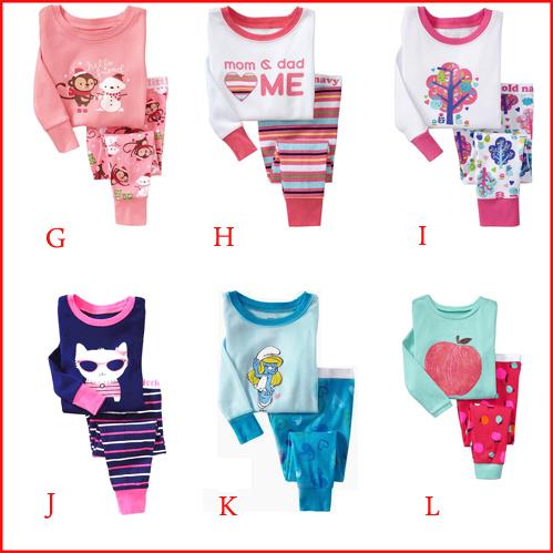 free shipping kids baby clothing 2 pcs set 2014 new 100% cotton Hello kitty baby pajamas of the children leopard pyjamas(China (Mainland))