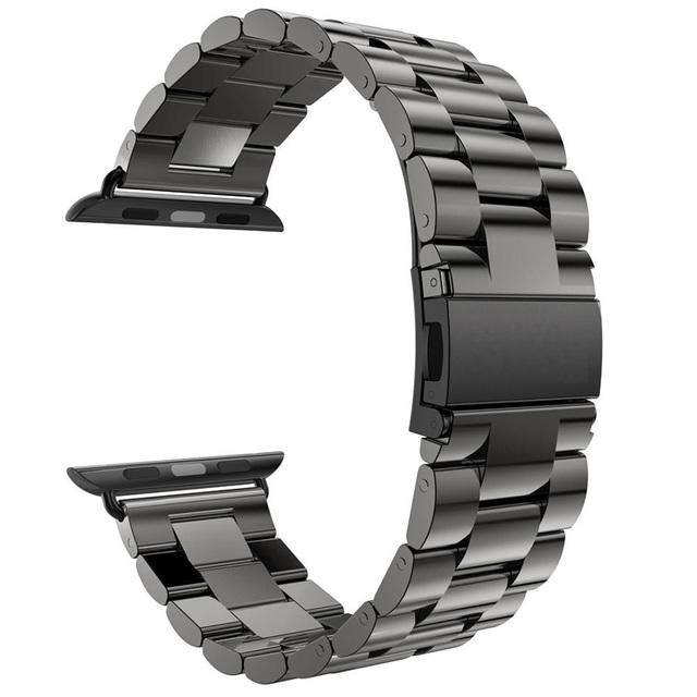 Для Apple , часы полоса 42 мм черное золото браслет из нержавеющей стали пряжка ремешок клип адаптер для Apple , часы полоса 38 мм для iWatch