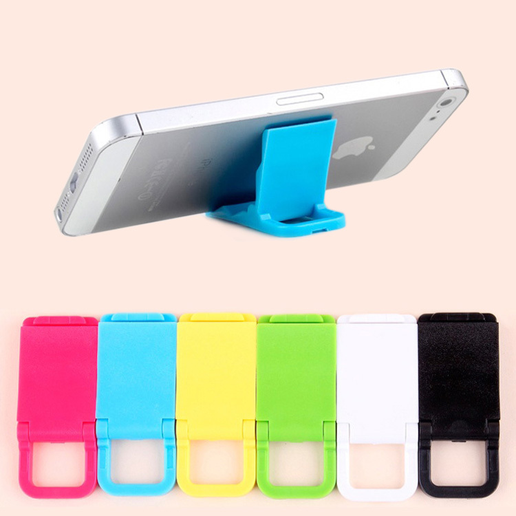 Hot sales Universal mobile phone stand holder Mini Desk Station Plastic holder stand For iPhone, Foldable mobile phone holder(China (Mainland))