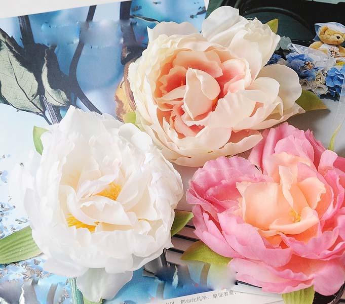 50pcs high quality large Artificial Peony 20cm stem 8.5cm Silk Flowers for wedding bouquet wedding table centerpiece 10colors