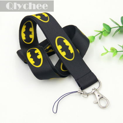1 Pcs Hot Sell Black Bat Mobile Phone Accessories Cell Phone Camera ID Card Grey Neck Straps Lanyard Gifts