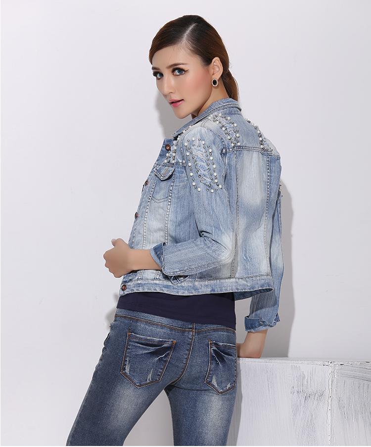 2015 new ripped jeans jackes women oversized denim jacket chaquetas mujer casaco veste en jean. Black Bedroom Furniture Sets. Home Design Ideas