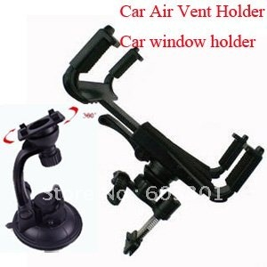 "3 in 1 set car air vent holder + car window holder, adjustable size from 10-20cm work for 7-10.1"" tablet"