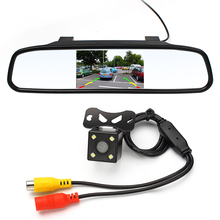 Car Rear View Camera Universal Reverse Camera With Monitor CCD Car Mirror Monitor For Trucks Parking Assistance System(China (Mainland))