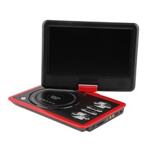 Rot 9,8 Zoll lcd tv Mini Digital Mobile tv tragbare drehbaren Bildschirm DVD EVD-Player TV VCD CD MP3/4 USB GAME TV EU-Stecker(China (Mainland))