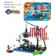 238 Pcs Assembling Toys Pirate Ship Building Bricks Blocks Sets Figures Minifigures Compatible With legoed Enlighten Lbk_qm_021