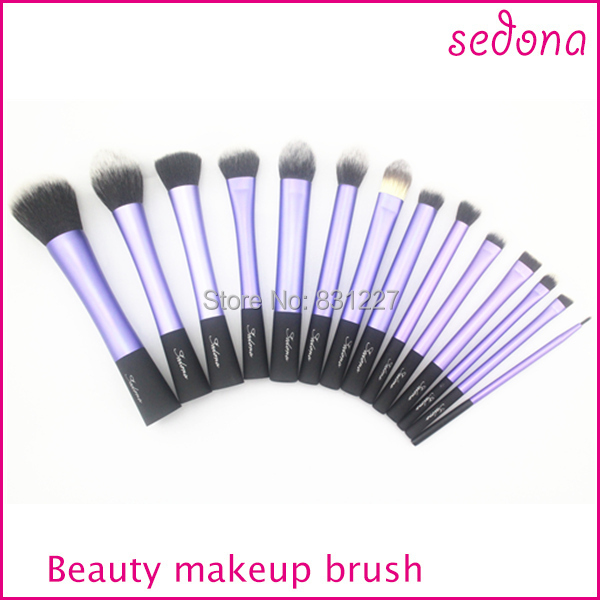 Luxury 14 pieces - set super soft hair blue makeup brush kit for make up,Eye Face & lip Cosmetic bru