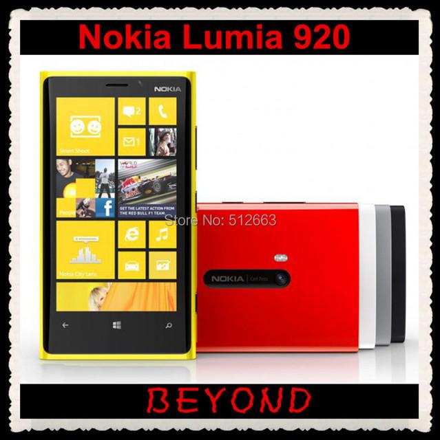 Original Nokia Lumia 920 unlocked Windows mobile phone WIFI GPS 4.5'' 8MP 3G&4G GSM 32GB internal Storage freeshipping
