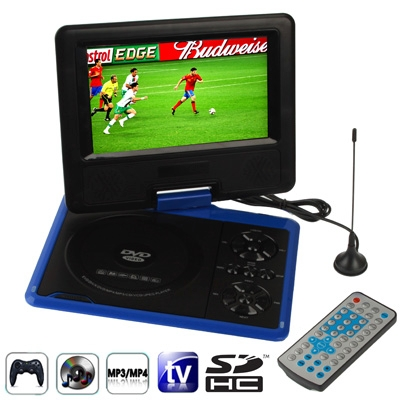 NS-758 7.5 inch TFT LCD Screen Digital Multimedia Portable DVD Card Reader USB Port, Support TV Game, 270 Degree Rotation(Blue)<br><br>Aliexpress
