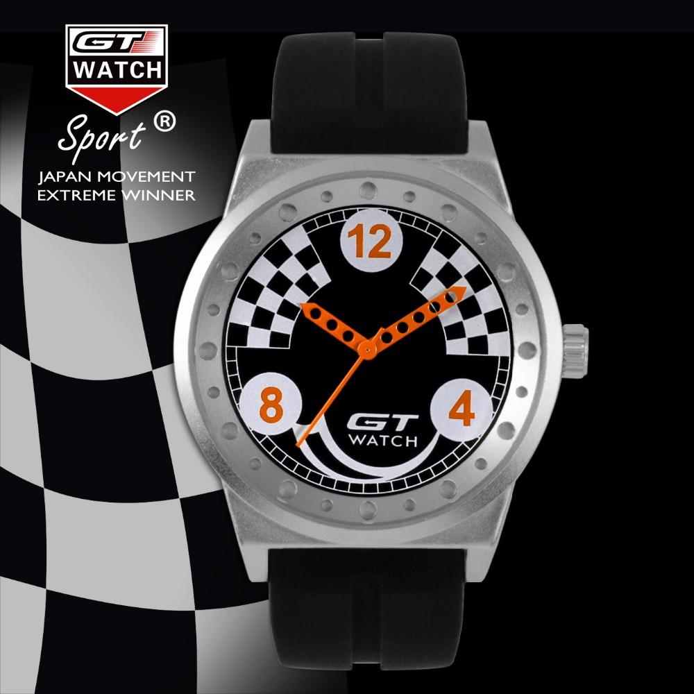 New Luxury Brand GT WATCH Men's Dress Military Watch Women Fashion Silicone Strap Quartz F1 Racing Sports Campus Casual Watch(China (Mainland))