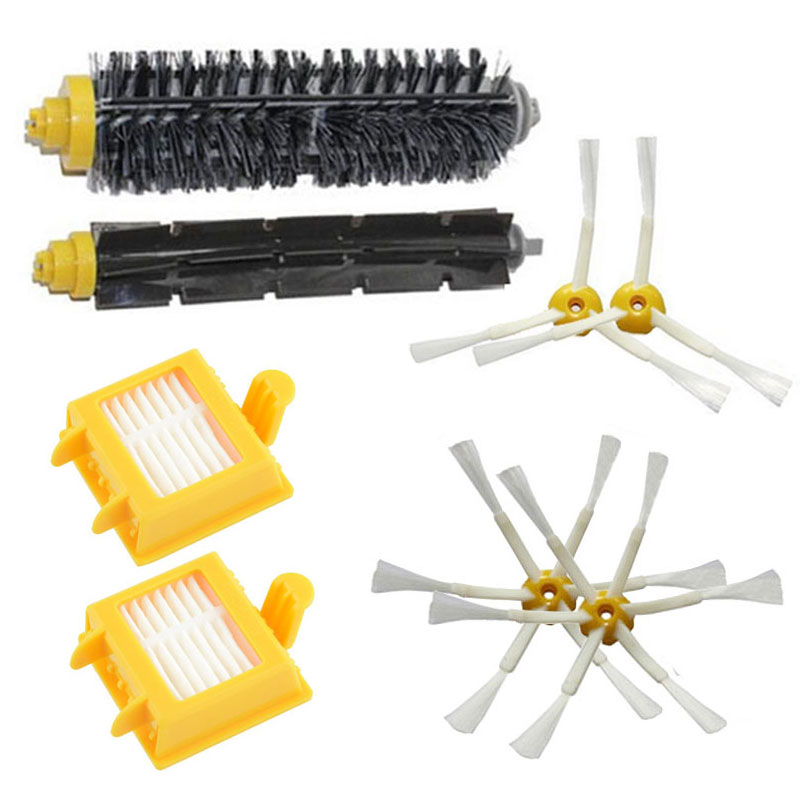 Hepa Filter+Side Brush Kit+Bristle and Flexible Beater Brush suitable for iRobot Roomba 700 Series 770 780 790 Cleaner Accessory(China (Mainland))